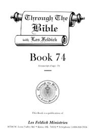 Through the Bible with Les Feldick, Book 74