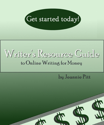 Writer's Resource Guide to Online Writing For Money - Jeannie Pitt book