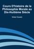 Victor Cousin - Cours d'histoire de la philosophie morale au dix-huitième siècle artwork