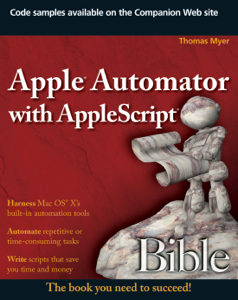 Apple Automator with AppleScript Bible La couverture du livre martien