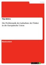 Die Problematik Der Aufnahme Der Türkei In Die Europäische Union