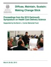Diffuse Maintain Sustain Making Change Stick