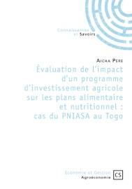 Valuation De L Impact D Un Programme D Investissement Agricole Sur Les Plans Alimentaire Et Nutritionnel Cas Du Pniasa Au Togo