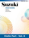 Suzuki Violin School - Volume 8 Revised