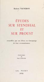 Études sur Stendhal et sur Proust
