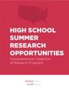 High School Summer Research Opportunities