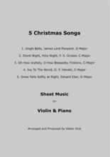 5 Christmas Songs Sheet Music For Violin & Piano
