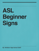 ASL Beginner Signs