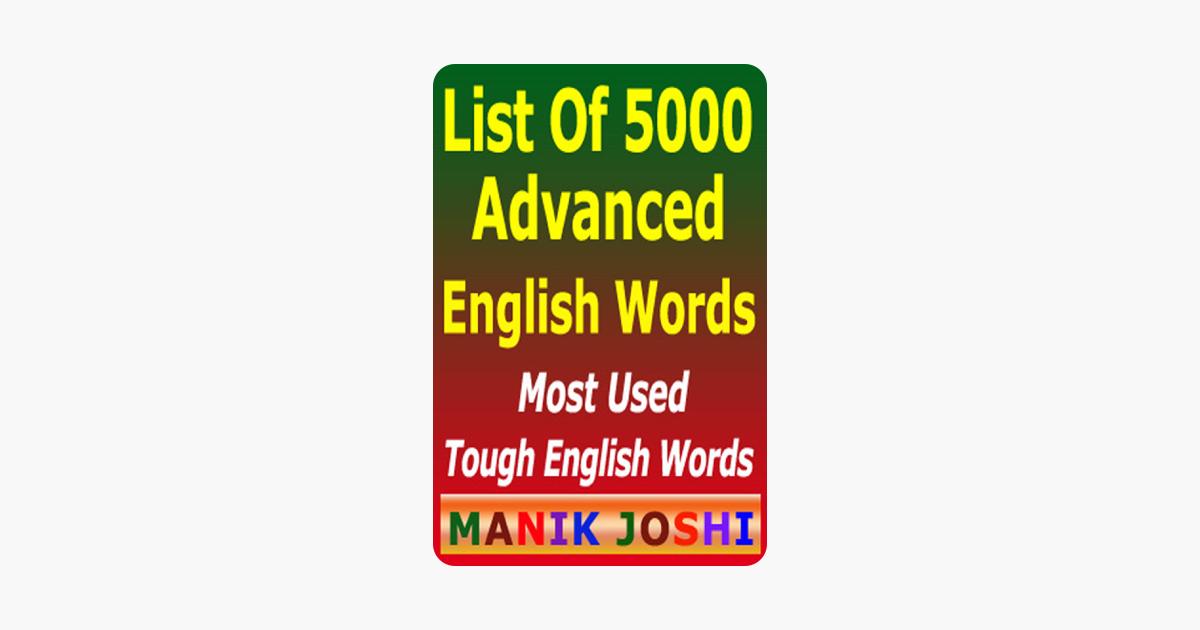 List of 5000 Advanced English Words