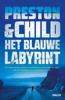 Preston & Child - Het blauwe labyrint kunstwerk