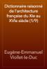 Eugène-Emmanuel Viollet-le-Duc - Dictionnaire raisonné de l'architecture française du XIe au XVIe siècle (1/9) artwork