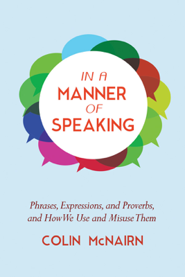 In a Manner of Speaking - Colin McNairn book