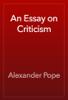 Alexander Pope - An Essay on Criticism artwork