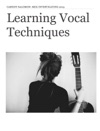 Learning Vocal Techniques