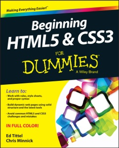 Beginning HTML5 and CSS3 For Dummies Book Cover