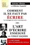 Comment Il Ne Faut Pas Crire  Lart Dcrire Enseign En Vingt Leons  Les Tendons Du Style