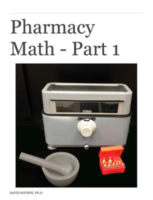 Pharmacy Math - Part 1 - David Bourne book