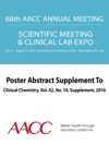 68th AACC Annual Scientific Meeting Abstract EBook