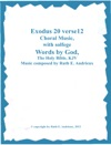 Exodus 20 Verse 12 Choral Music With Solfege
