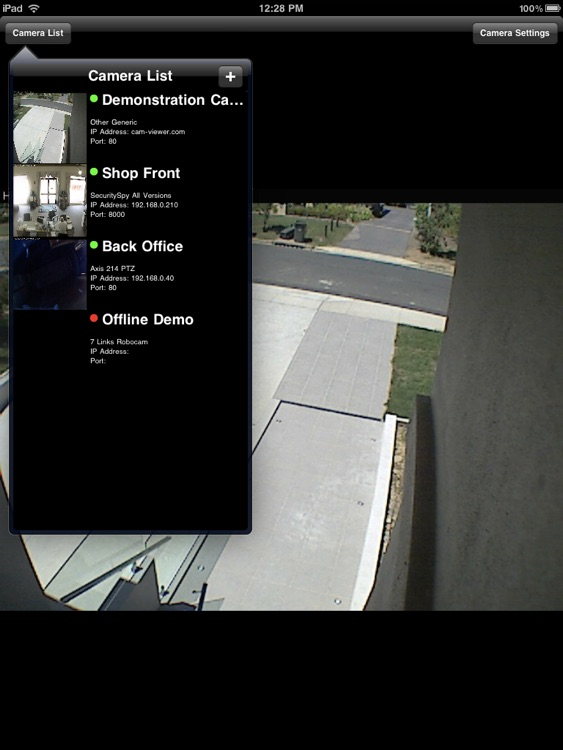 Cam Viewer for iPad