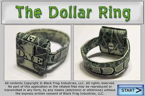 Dollar Ring Origami screenshot-0