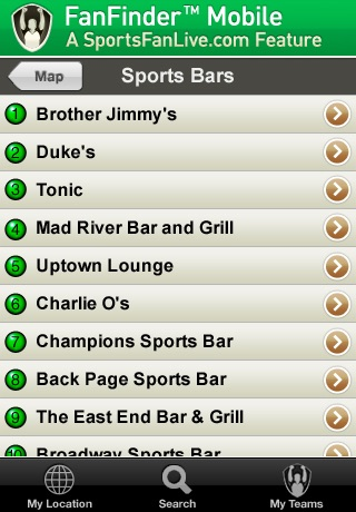 FanFinder - Sports Bar Locator screenshot-4