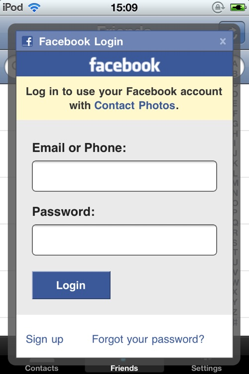 Contact Photos for Facebook