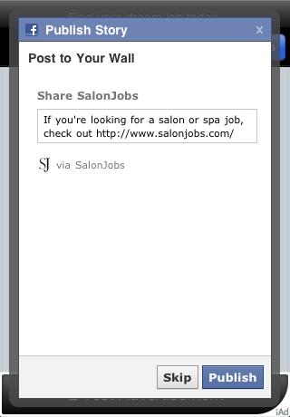Screenshot of SalonJobs Mobile