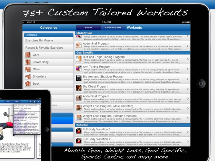 Fitness Buddy for iPad : 1700+ Exercise Workout Journal