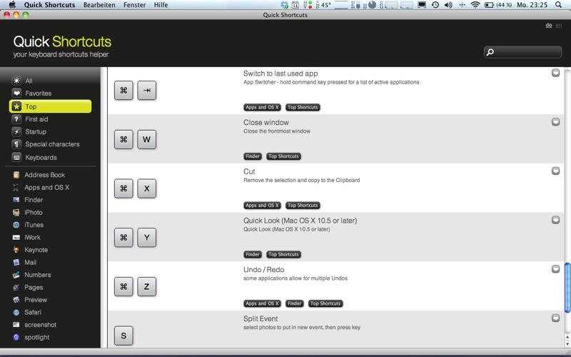 Quick Shortcuts - your keyboard shortcuts helper | App Price Drops