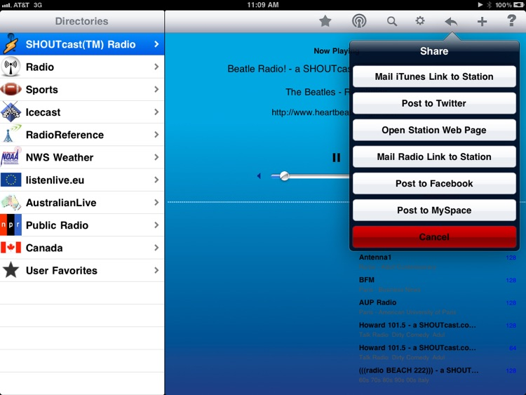 Radio - iPad Edition screenshot-1