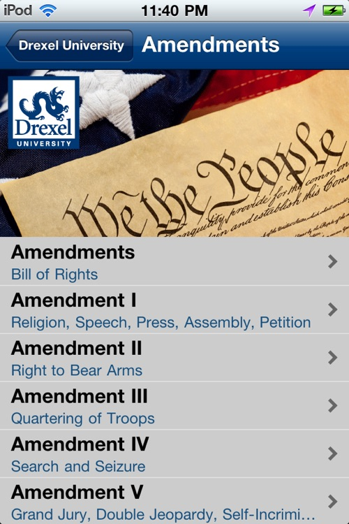 Drexel University U.S. Constitution screenshot-4