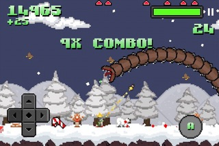 Screenshot from Super Mega Worm Vs Santa
