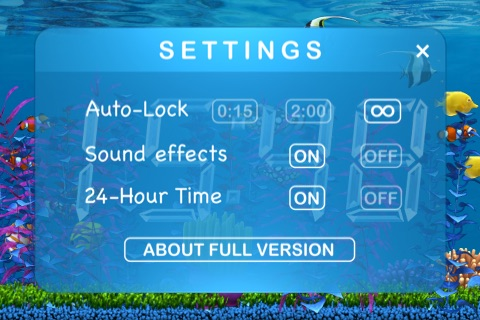 Aquarium Clock screenshot-3