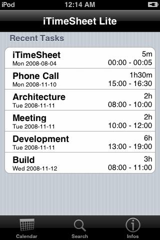 iTimeSheetLite screenshot-3