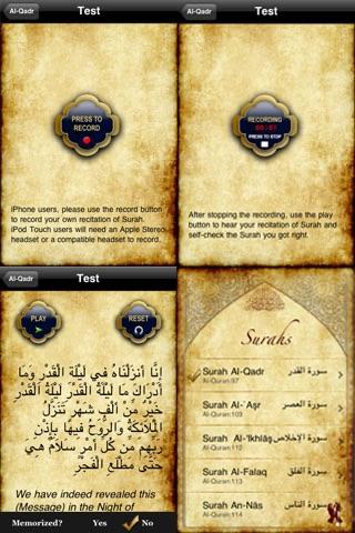 QSurahs Lite– Memorize Qur'anic Surahs screenshot four