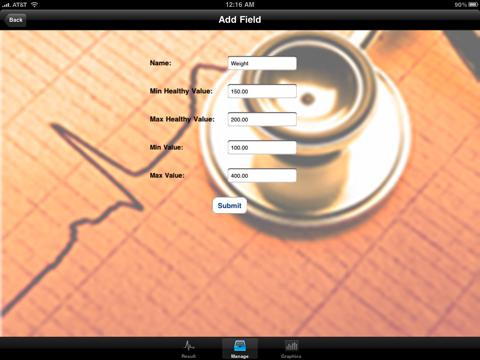 "Blood Test Monitor ""for iPad"" Lite screenshot one"