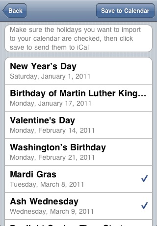 USA Holidays Calendar 2011-2015. screenshot-3