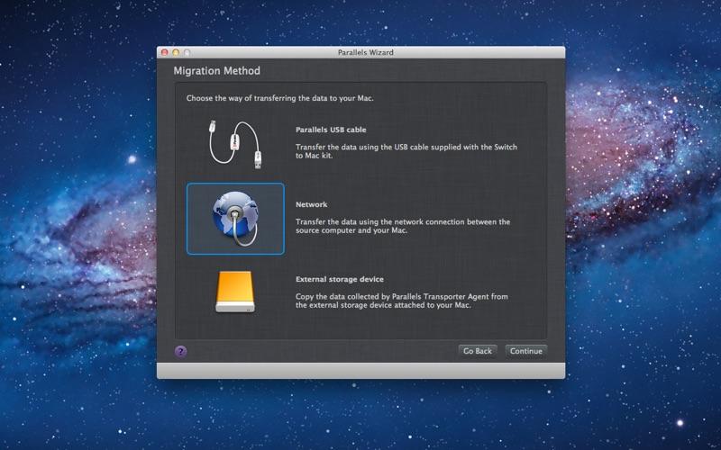 Parallels Transporter Screenshot