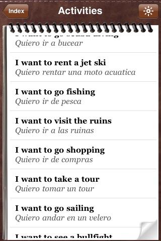 Spanish for Tourists - Audio Phrasebook screenshot-3