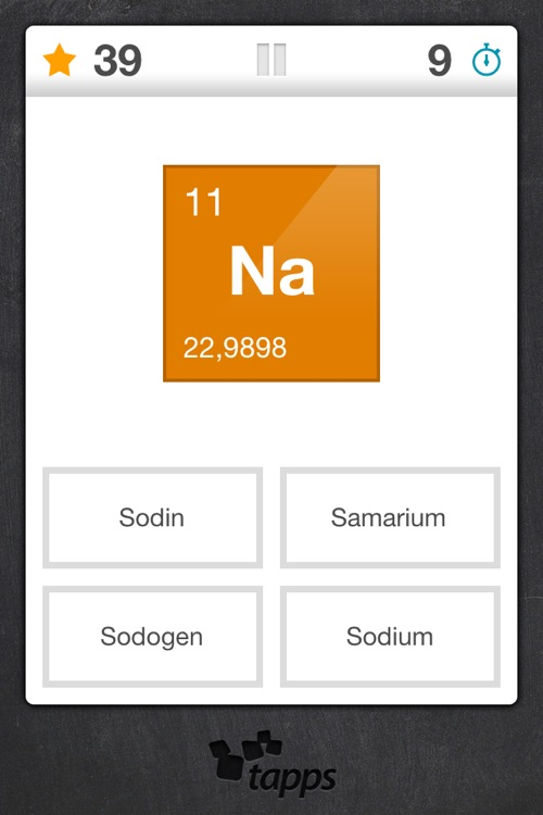 Elements periodic table element quiz by tapps tecnologia da elements periodic table element quiz urtaz Choice Image