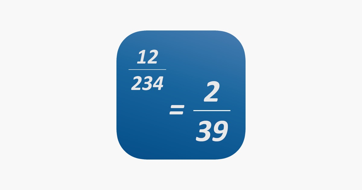 Simplify Fraction on the App Store