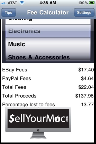 eBay Fees Calculator and Free Tips screenshot-3