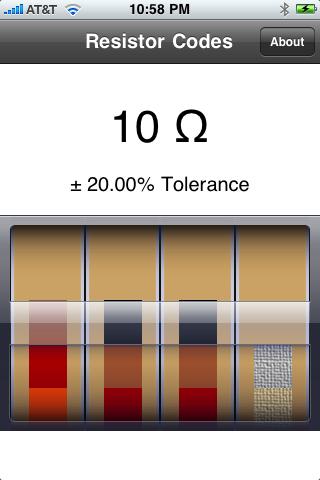 Resistor Codes screenshot two