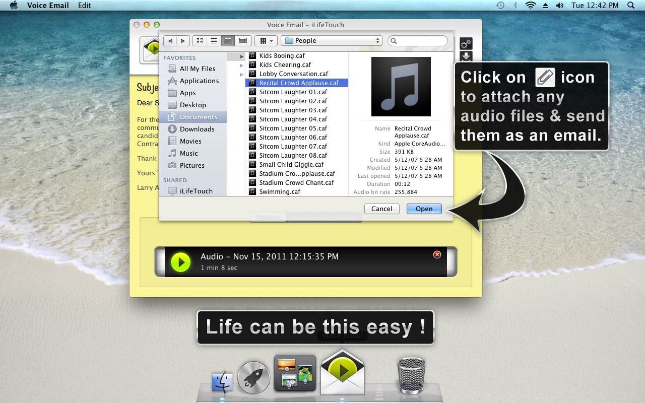 Voice Email on the MacAppStore