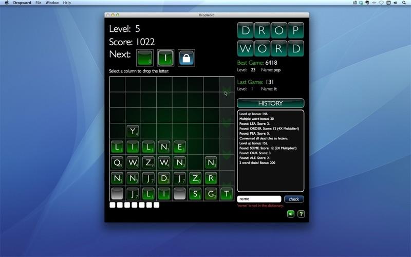 Dropword Screenshot