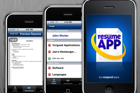 resume app on the app store