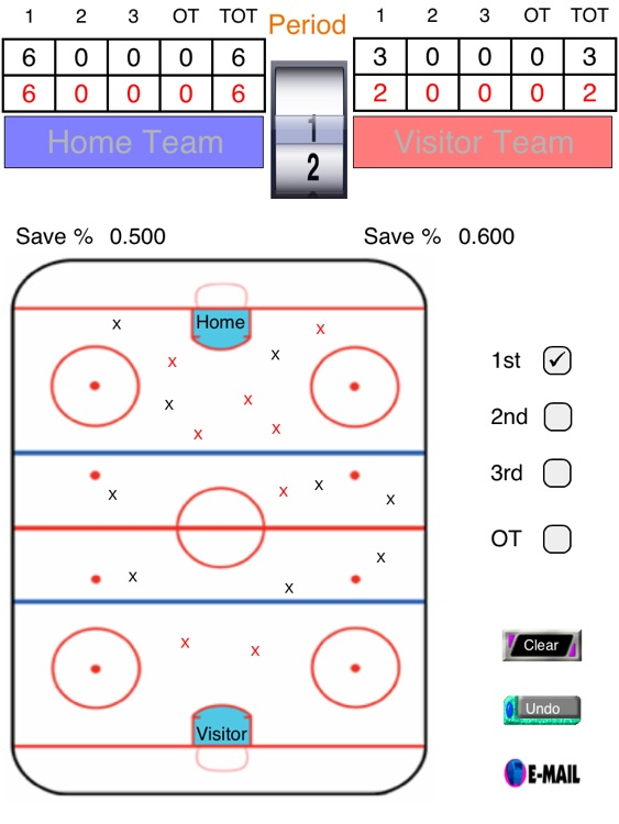 Hockey Shot and Goalie Saves Tracker screenshot-3