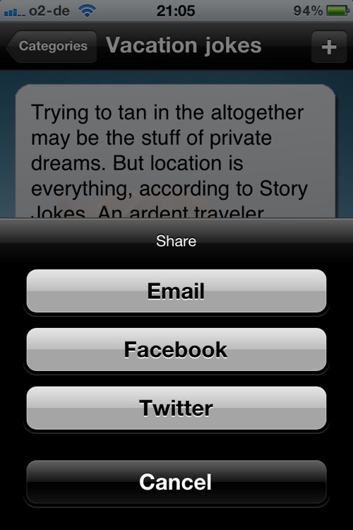 Awesome Jokes - The funny collection of jokes - Your travelmate for a perfect vacation screenshot-3