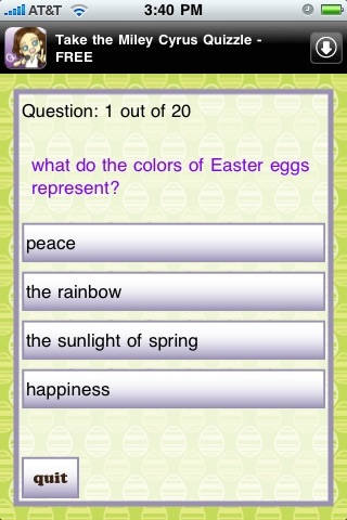 An Easter Quizzle™